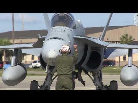 F/A-18C Hornets of VMFA-223 (HD)