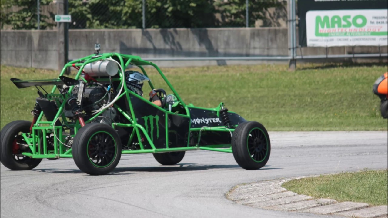 Kart Cross Buggy Build Homemade Buggy Kart Cross Autocostruito Cbr 600 Prototipo Monster Prova In Pista