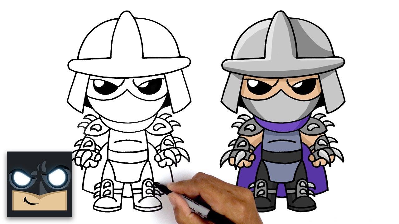 How To Draw Shredder   Teenage Mutant Ninja Turtles
