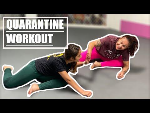 Live Stream: Quarantine Workout Cris Cyborg Home fitness Bellator, UFC, Invicta fighter training