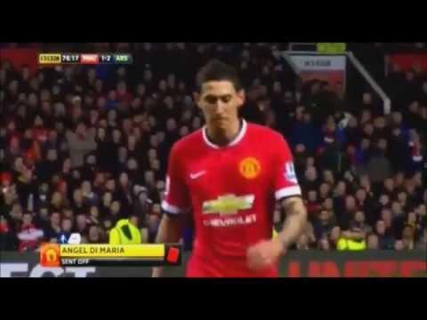 Ángel Di Maria Fight | Punches Referee in FA-Cup! | ManU vs. Arsenal