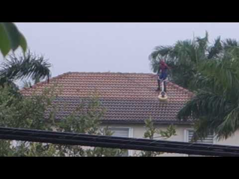 The Penthouse Blog - WTF: Spider-Man Spotted Cleaning Roofs In Florida