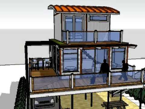 [1016] Architecture: Shipping Container House sun study