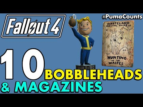 Top 10 Best Bobbleheads and Perk Magazines in Fallout 4 (With Locations) #PumaCounts
