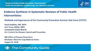 Approaches to Evidence Synthesis in Systematic Reviews of the CPSTF (MtG)