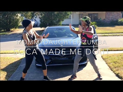 MommyDaughter ZUMBA | SOCA MADE ME DO IT - King Bubba FM|Lil Rick