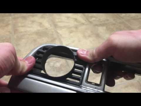 2002-2007 Subaru Impreza Gauge Pod Insert Installation