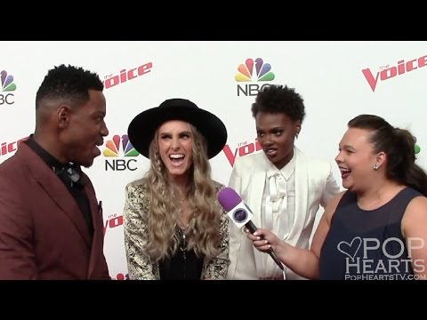 The Voice Interview: Stephanie Rice, Chris Blue, Vanessa Ferguson (Team Alicia Keys)
