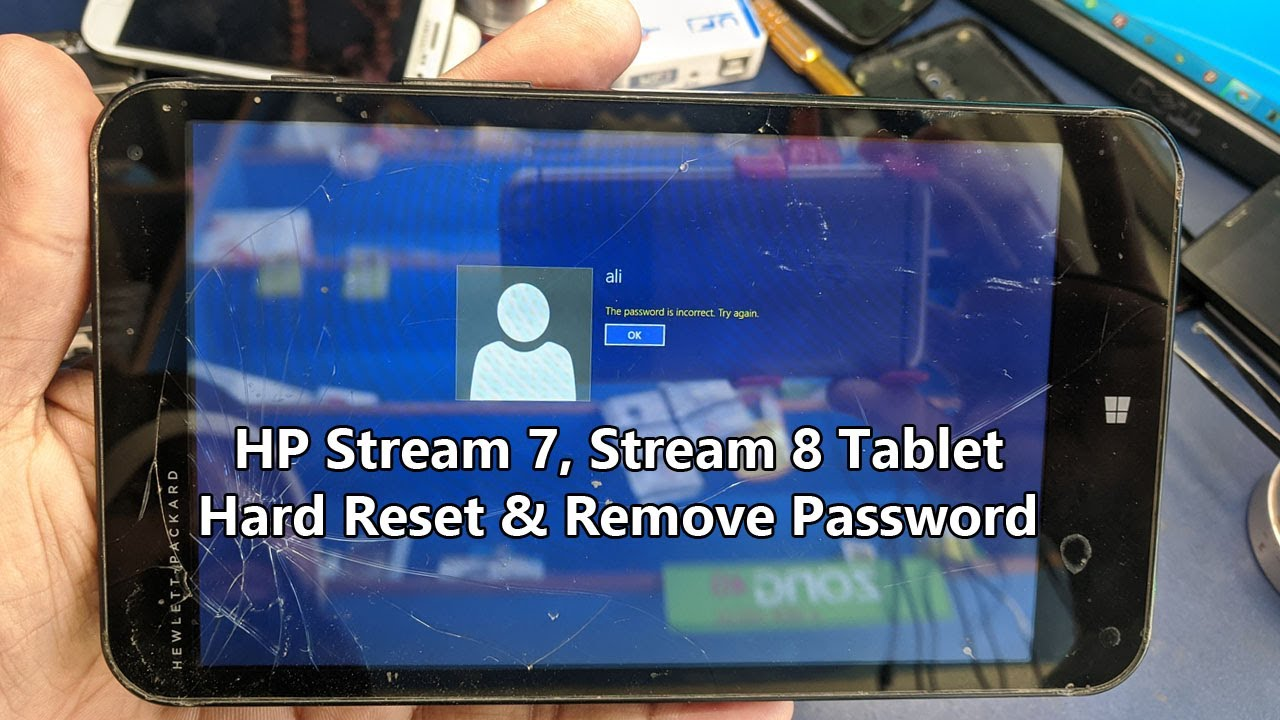 HP Stream 7, Stream 8 Tablet Factory Reset & Remove ...