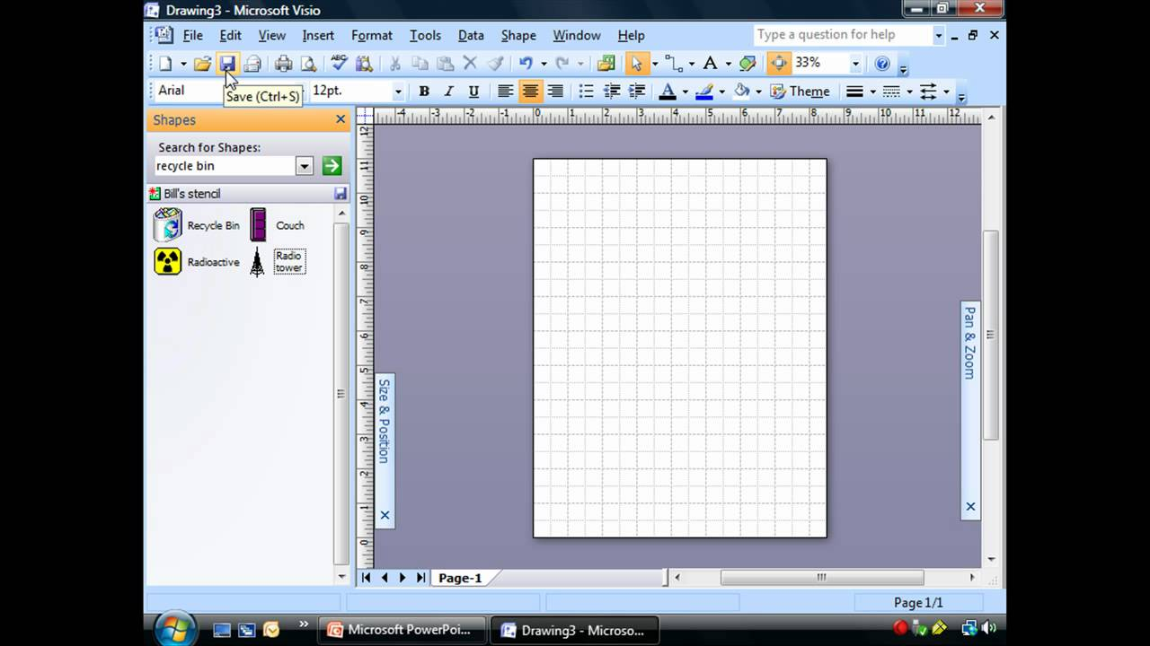 Adding Shapes To A Stencil In Visio 2007 Youtube