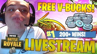 *NEW UPDATE!* | FREE V - BUCKS! | 210 Wins | Carrying My Subscriber's | Fortnite: Battle Royale 🔴