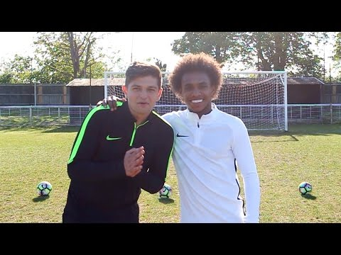 FOOTBALL CHALLENGES vs. CHELSEA STAR WILLIAN!! - Who Wins?