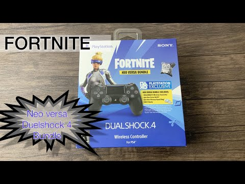 Fortnite Neo Versa Ps4 Controller Bundle Unboxing