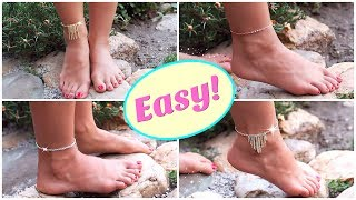 4 DIY Anklets with NO TOOLS! | Easy DIY Anklet | DIY Projects You Need To Try!