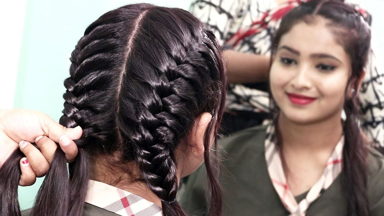 Two Side Fish Braided Hairstyle For Girls Hair Style Girls Trendy Hairstyles 2020 Youtube