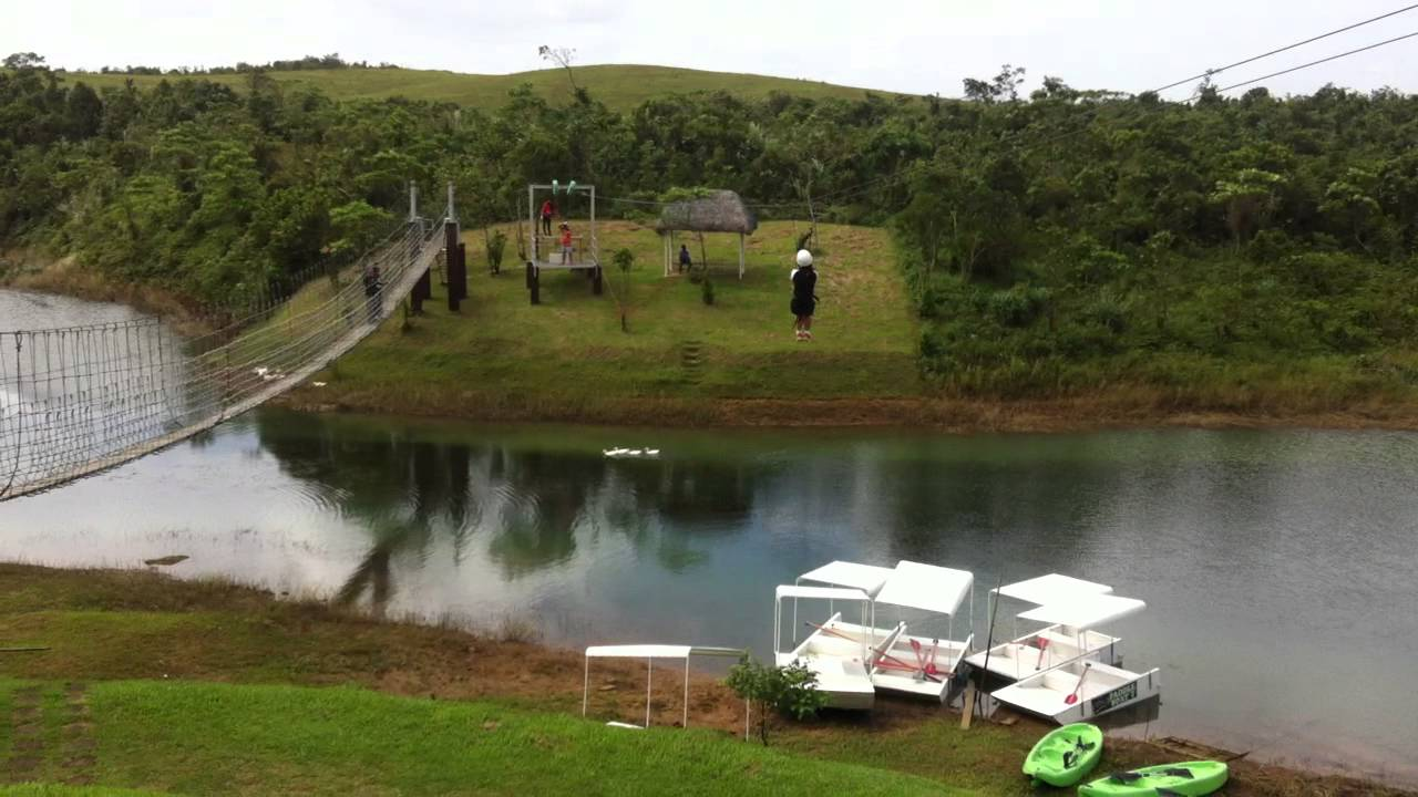 the lifestyle avenue zip line in caliraya mountain lake resort - youtube