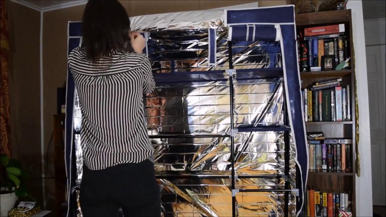 transforming canvas wardrobe into a grow tent youtube