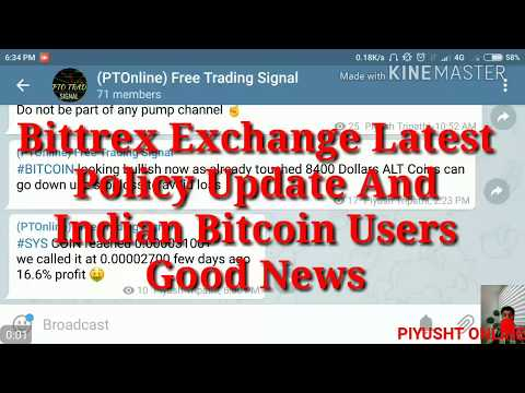 Bittrex Exchange Latest Policy Update And Indian BTC Users News