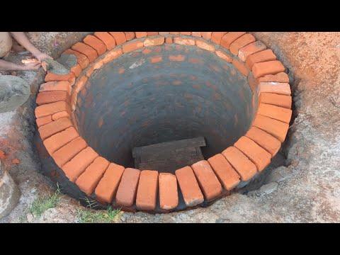 Circular Water Tank Brick Masonry And Chicken Wire Mesh Plastering
