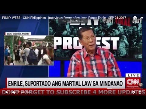 PINKY WEBB - CNN Philippines -  Interviews Former Sen Juan Ponce Enrile - SEP 21 2017