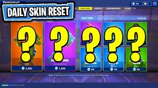 The NEW Daily Skin Items In Fortnite: Battle Royale! (Skin Reset #52)