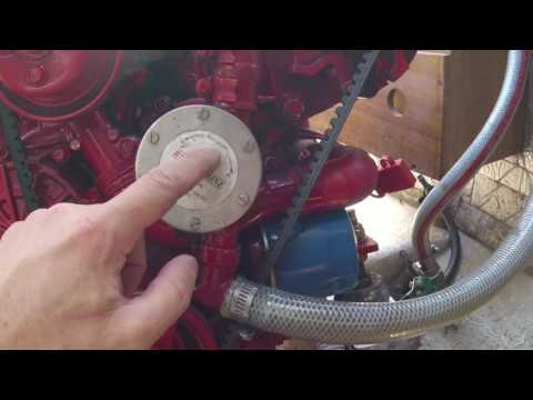 How to maintain a yacht/sail boat engine cooling system, including replacing the raw water impeller.