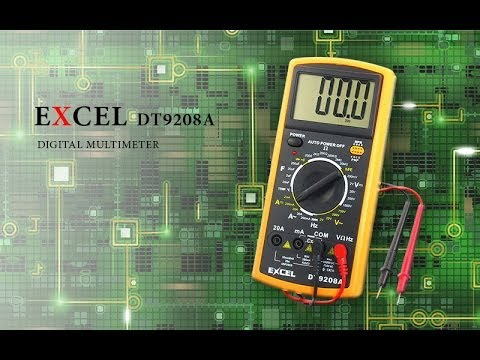 Мультиметр DT9208A Excel и