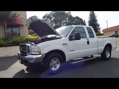 2004 Ford F250 Lariat Powerstroke Turbo Diesel Super Duty video overview and walk around.