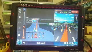 아이나비 KL100 3D 네비게이션 모의주행 테스트