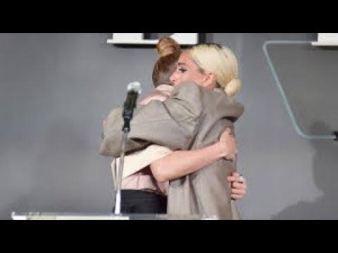 Jennifer Lopez talking about Lady Gaga at ELLE women in Hollywood 161018