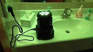 Lixada 7LED 105W RGBW 9/14 Channel DMX512 Mini Stage Light