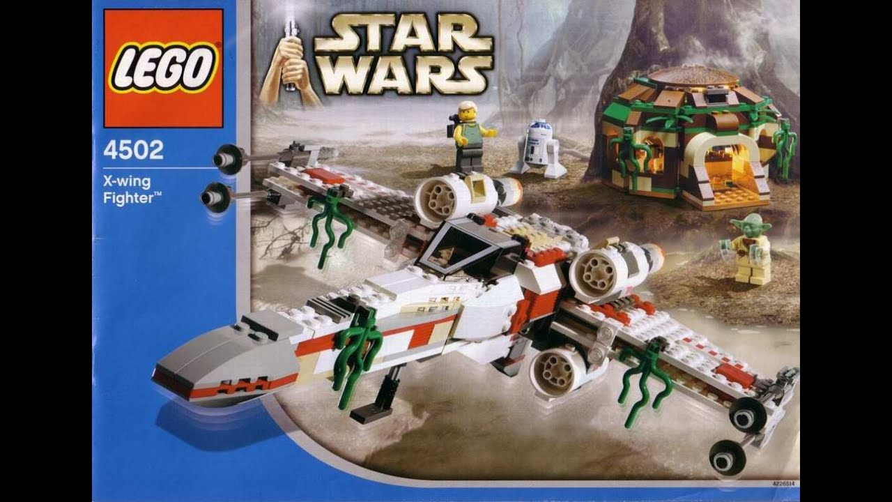 Lego 4502 Star Wars X Wing Fighter Instruction Manual Youtube