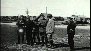 Assistant Secretary of the Navy Franklin Delano Roosevelt inspects a US Navy rail...HD Stock Footage