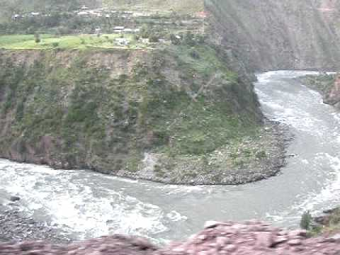 The Zig-Zag Neelum river, Azad Jammu and Kashmir.