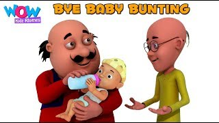 Bye Baby Bunting with Motu Patlu I Nursery Rhymes for Babies, toddlers & Kids by WowKidz Rhymes