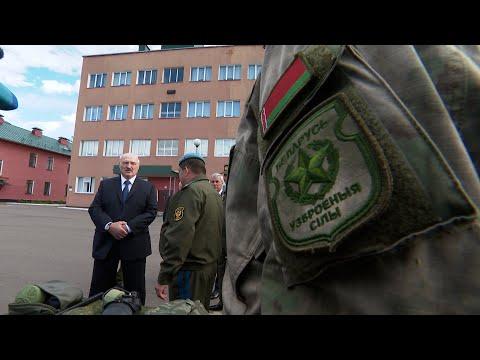 Лукашенко посетил 103-ю Витебскую воздушно-десантную бригаду