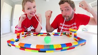 Father VS Son LEGO SOCCER! / It Cost $0 !!!
