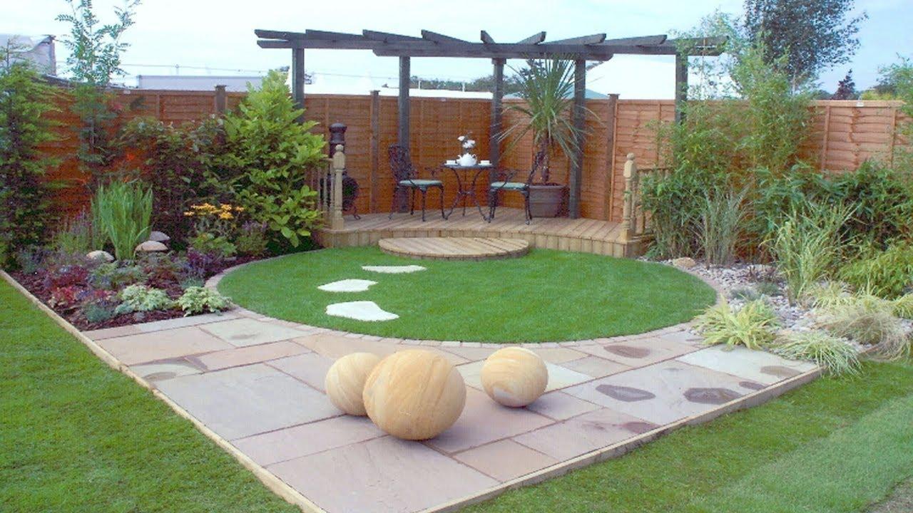 Garden Corner Design Small and Large Gardens Ideas - YouTube