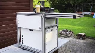 Bau einer Frischluftküche für den VW T5 Multivan