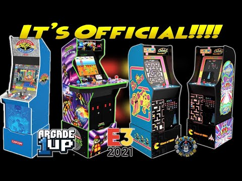 Arcade1Up Big Blue Street Fighter 2 LIVE, Turtles In Time, & PacMan/Galaga Class of '81 (E3 2021) from Kongs-R-Us