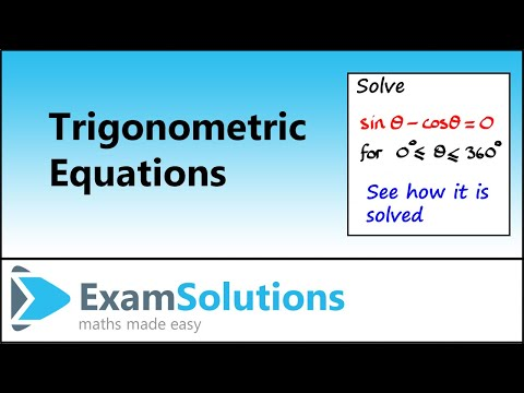 Trigonometry : Solving Equations using identities (Example 1) : ExamSolutions