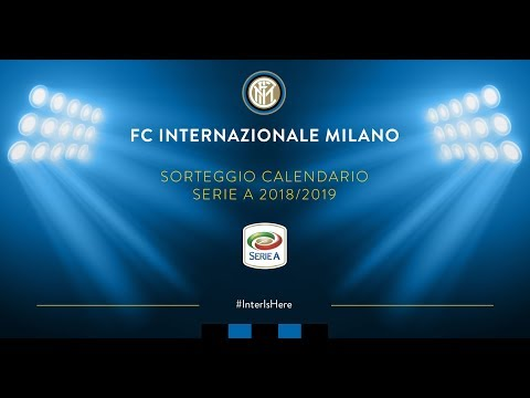Interit Calendario.Inter Tv Live 2018 19 Serie A Tim Fixtures Draw Interishere