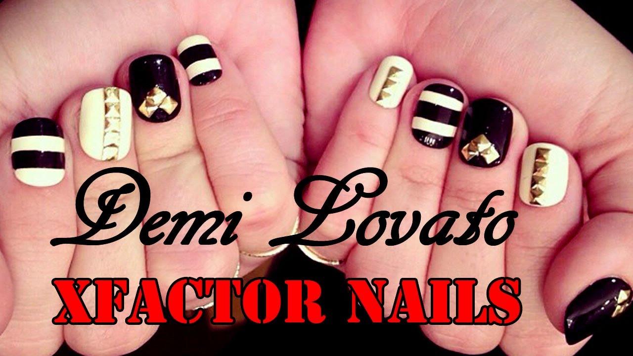 Demi Lovato S X Factor Inspired Nails Full Nail Art Tutorial You