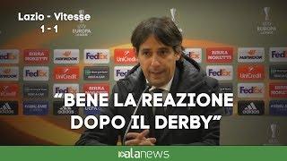 """Lazio-Vitesse, Inzaghi: """"Bene la reazione dopo il derby"""""""