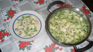 Окрошка (холодный суп)!