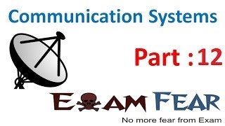 Physics Communication Systems part 12 (Carrier wave, Modulation types) CBSE class 12