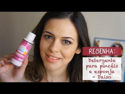 Resenha: Detergente Pinceis e Esponja - Daiso