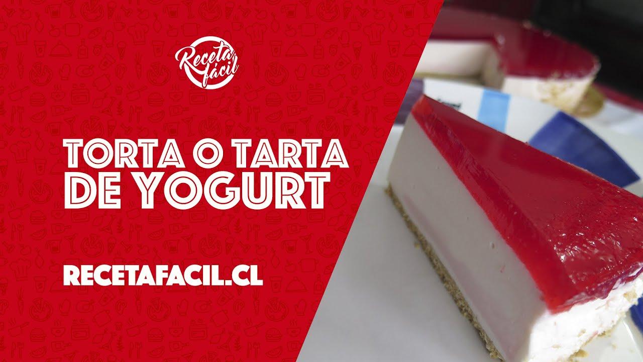 Receta fácil de torta o tarta de yogurt ¡Sin horno!