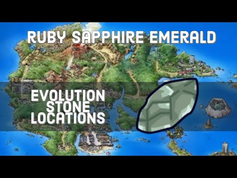 Where To Find Evolutionary Stones In Pokemon Ruby, Sapphire, & Emerald