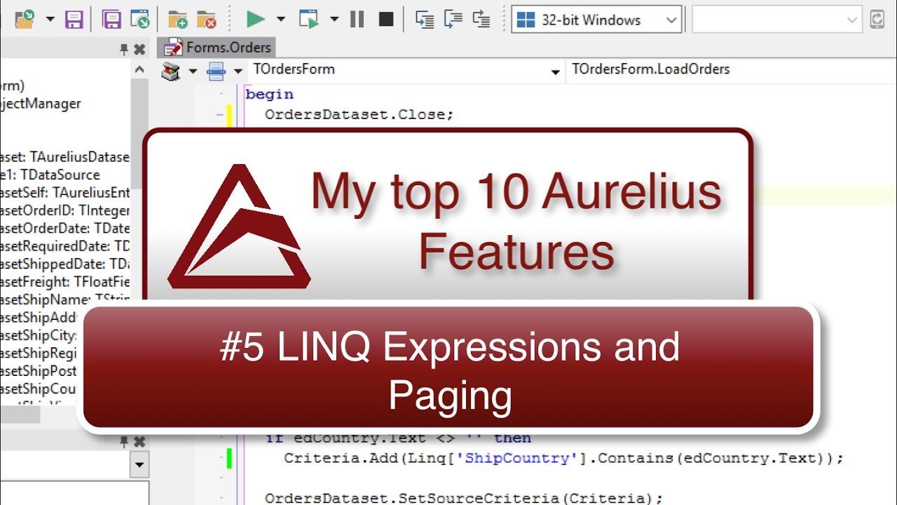 TMS Software | Blog | My Top 10 Aurelius Features - #5 LINQ